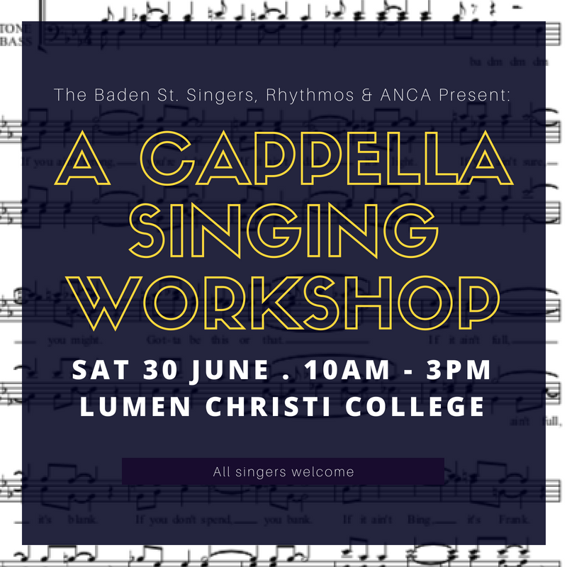 ANCA and BSS present: A Cappella Singing Workshop